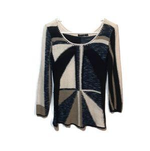 🍉 Nic + Zoe Abstract Sweater Top